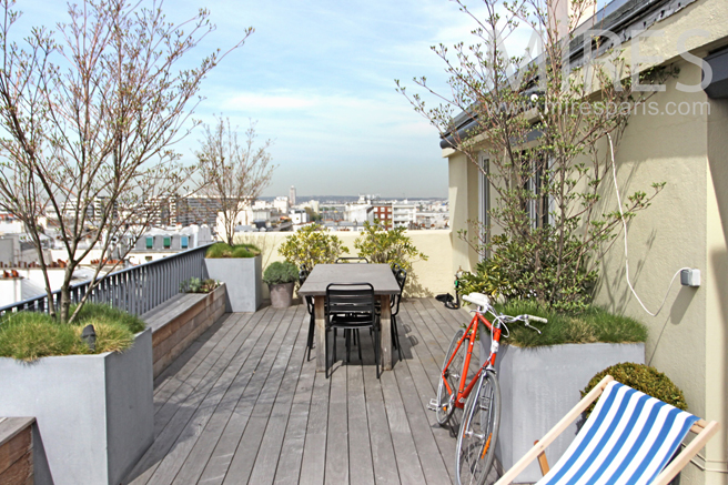 Terrasse surplombant Paris. C1177