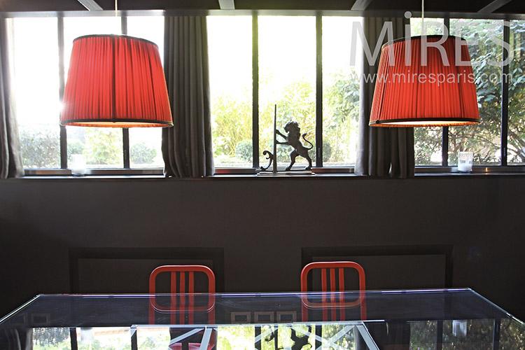 salle a manger rouge et noir porte fenetre pour chaise salle manger ...