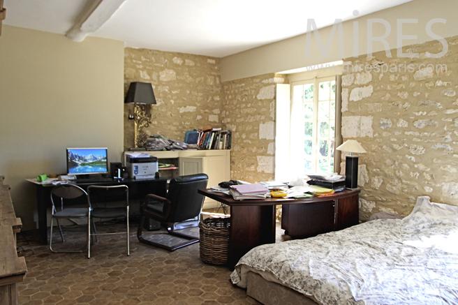 Bedroom with desk. C1225