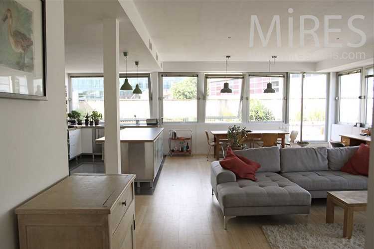 Glass apartment with large terrace. C1226