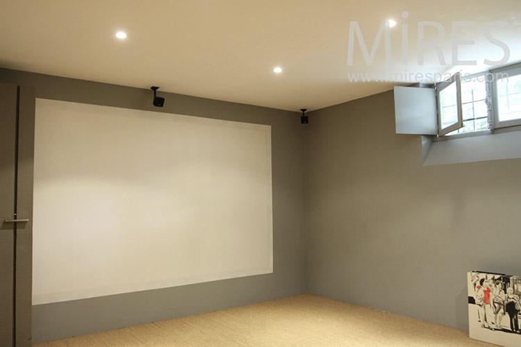 Home cinéma en sous-sol. C1230