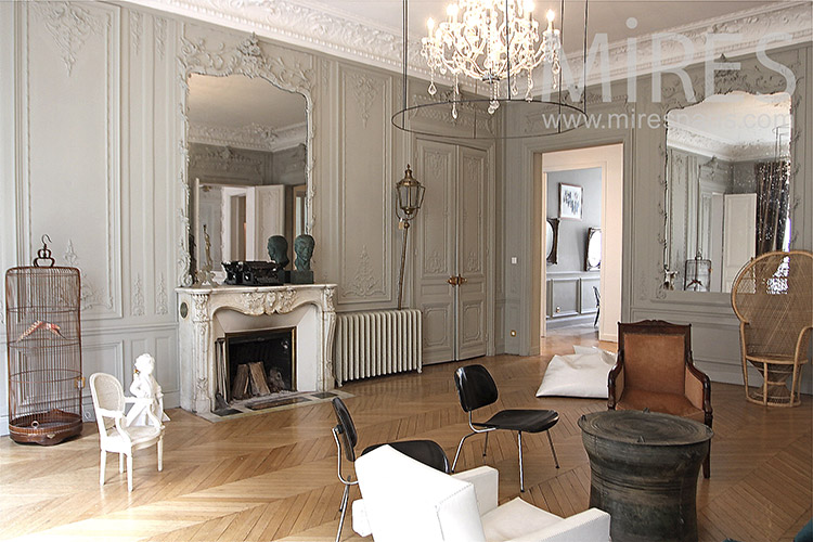 grand salon haussmanien c1237 mires paris