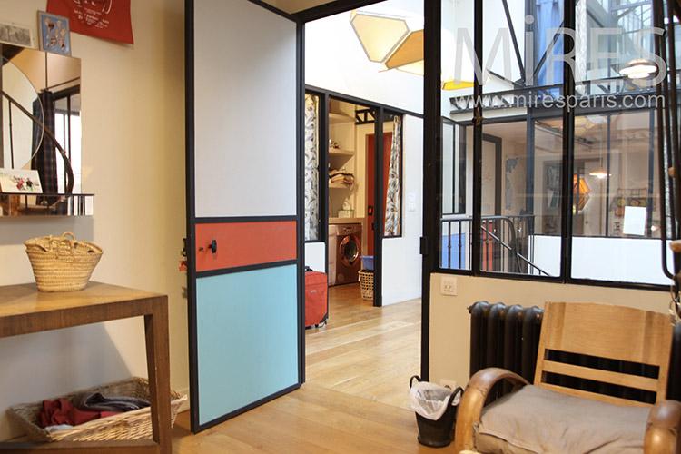 loft dans atelier vitr c1241 mires paris. Black Bedroom Furniture Sets. Home Design Ideas