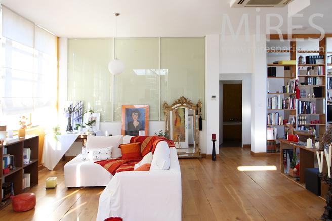 espace de vie en longueur c1247 mires paris. Black Bedroom Furniture Sets. Home Design Ideas