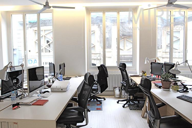 Bureaux lumineux au centre de Paris. C1261