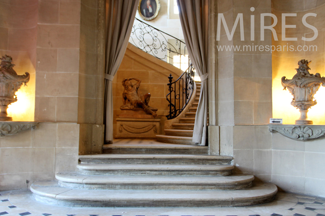 Double staircase of the mansion. C1263