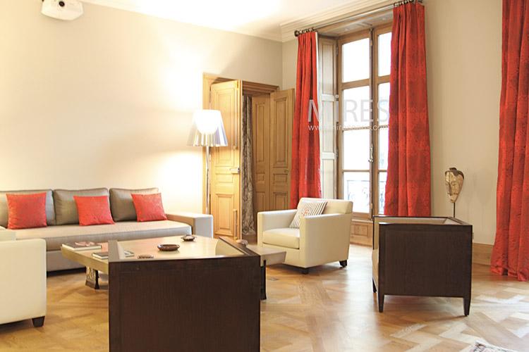 Salon pourpre cuir et bois c1278 mires paris for Salon cuir et bois