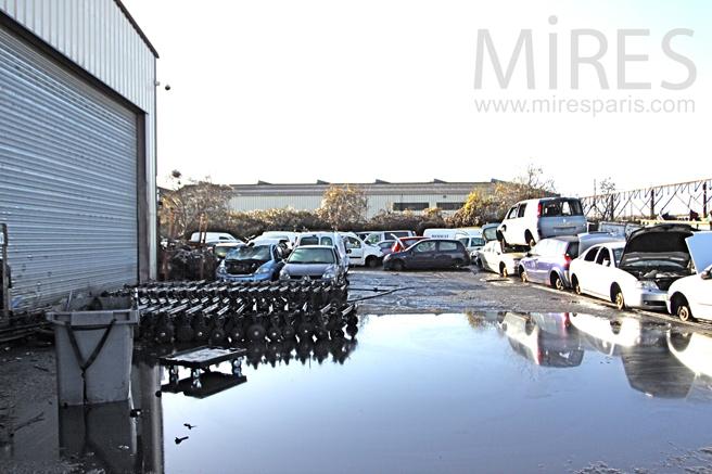 Parking en cours de réfection. C1282