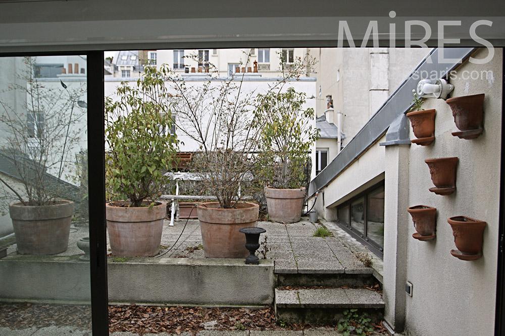 un banc sur un toit c0113 mires paris. Black Bedroom Furniture Sets. Home Design Ideas