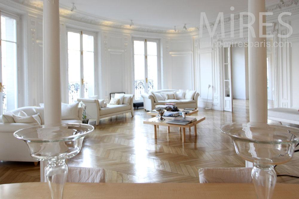 Grand appartement parisien c1292 mires paris for Appartement paris design