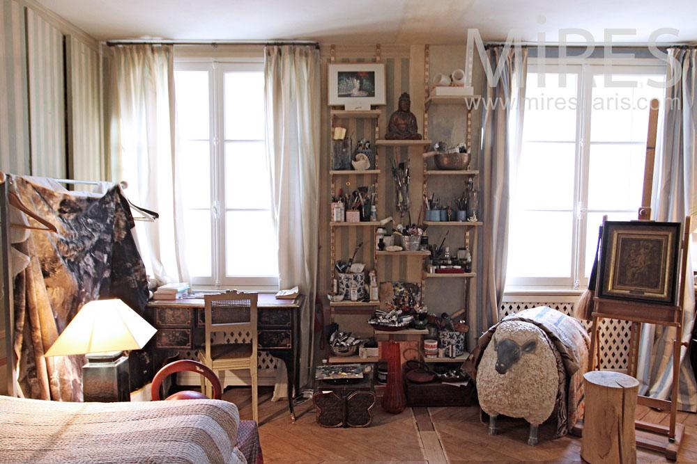 Artist's bedroom. C1301