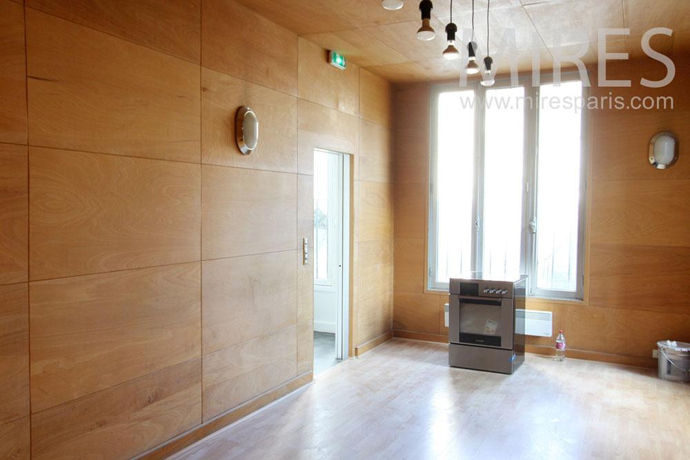 Wooden kitchen. C1314