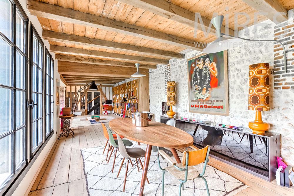 Partie salle manger ambiance bois c1315 mires paris for Salle a manger paris