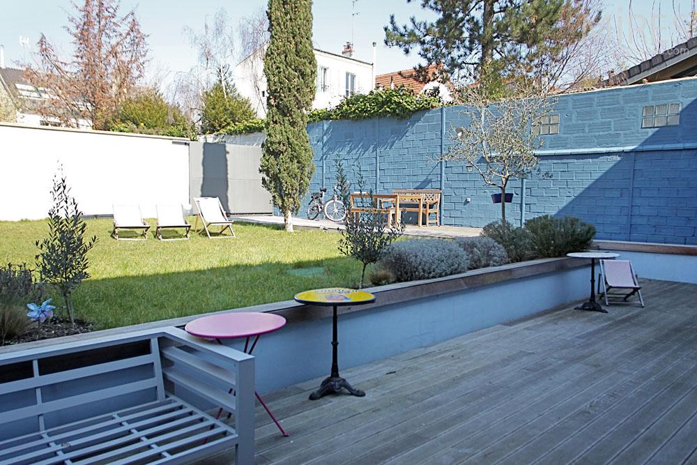 terrasse bois en contrebas c1322 mires paris. Black Bedroom Furniture Sets. Home Design Ideas