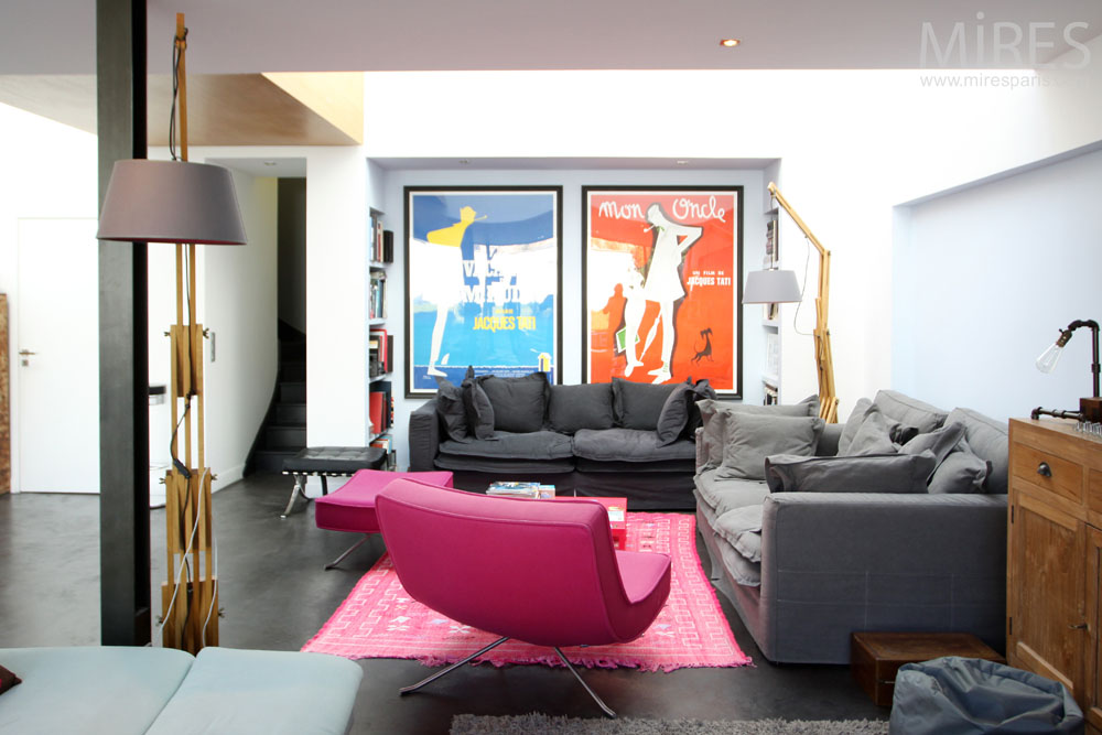 Confort et couleur au salon. C1322