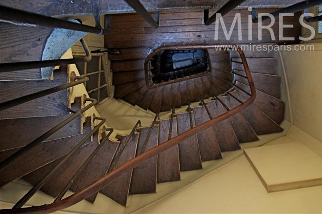 Parisian staircase. C1334