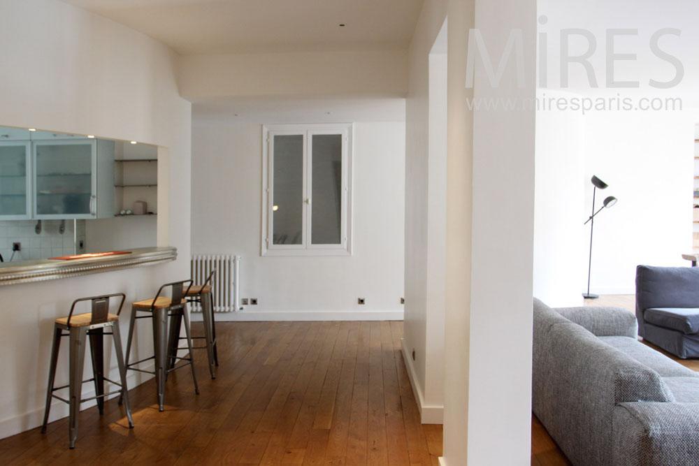 cuisine ouverte sur le couloir c1349 mires paris
