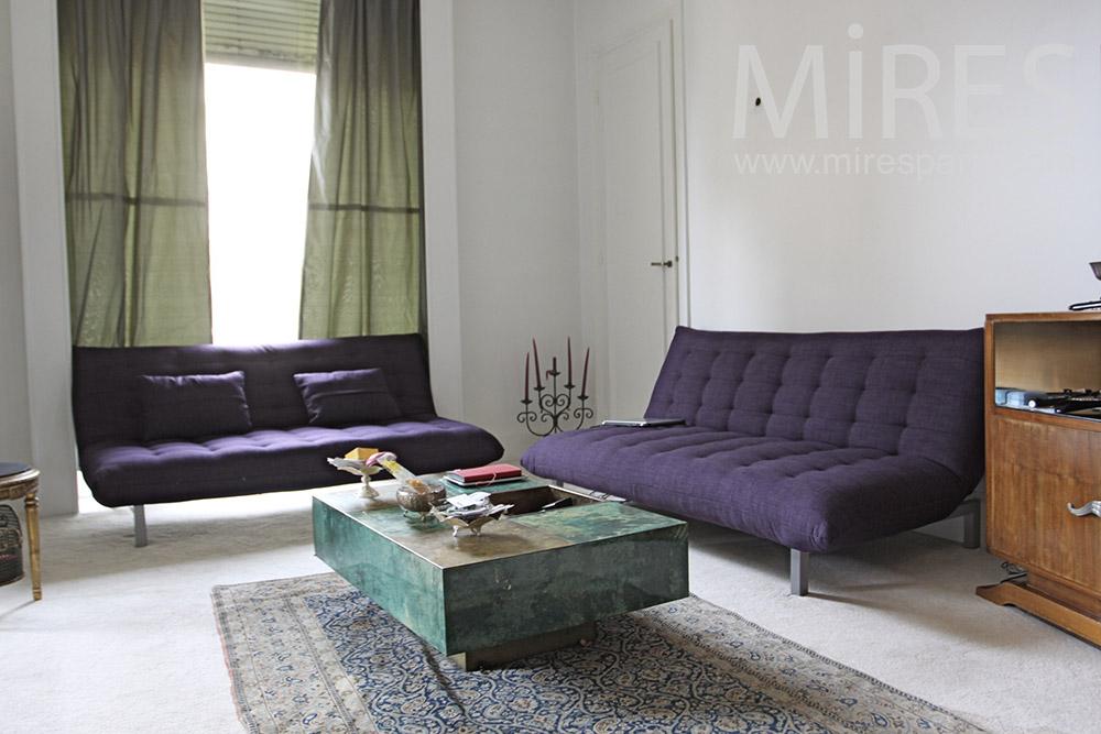 Double sofa améthyste. C1353