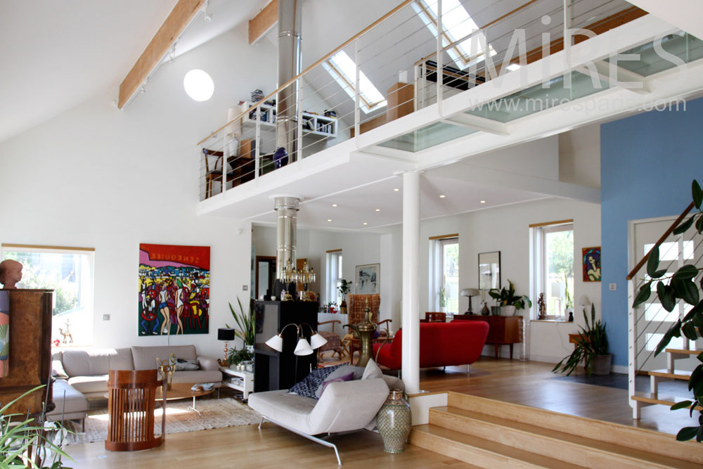 Stunning Salon Mezzanine Gallery Awesome Interior Home Satellite