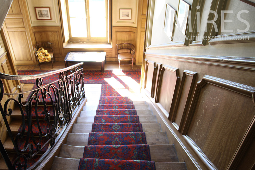Grand staircase and red carpet. C1363