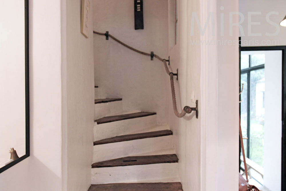 Rustical staircase and hallways. C1369