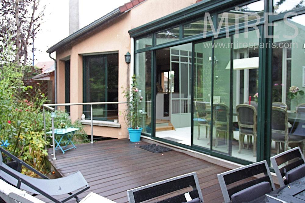 Terrasse bois surélevée. C1362