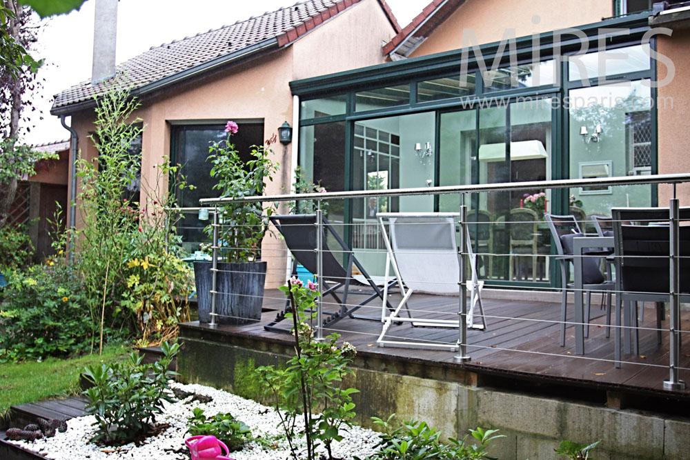 terrasse bois sur lev e c1362 mires paris. Black Bedroom Furniture Sets. Home Design Ideas