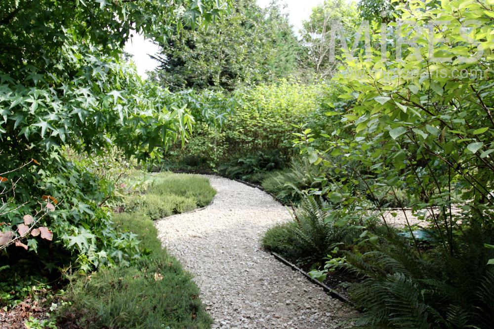 Driveways in the garden. C1374