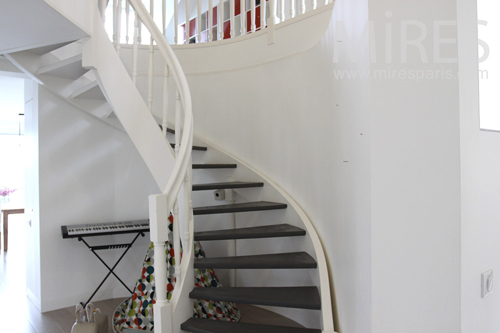 Escalier tournant. C1405