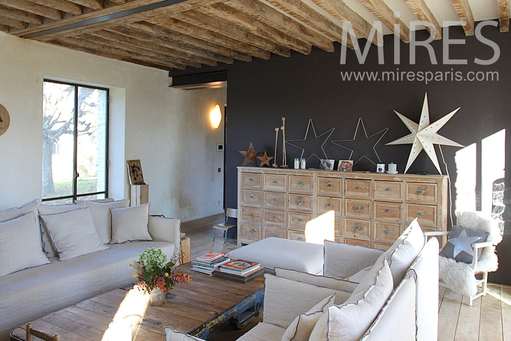 Chic and deco lounge with chimney c mires paris