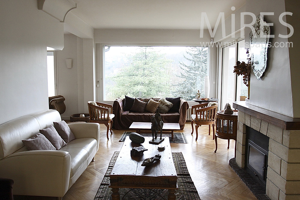 Living room overlooking the forest. C1414