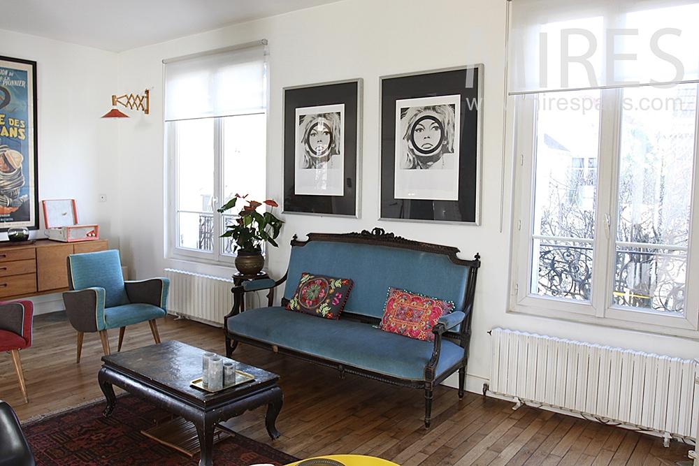 Salon bohème flamboyant. C0653