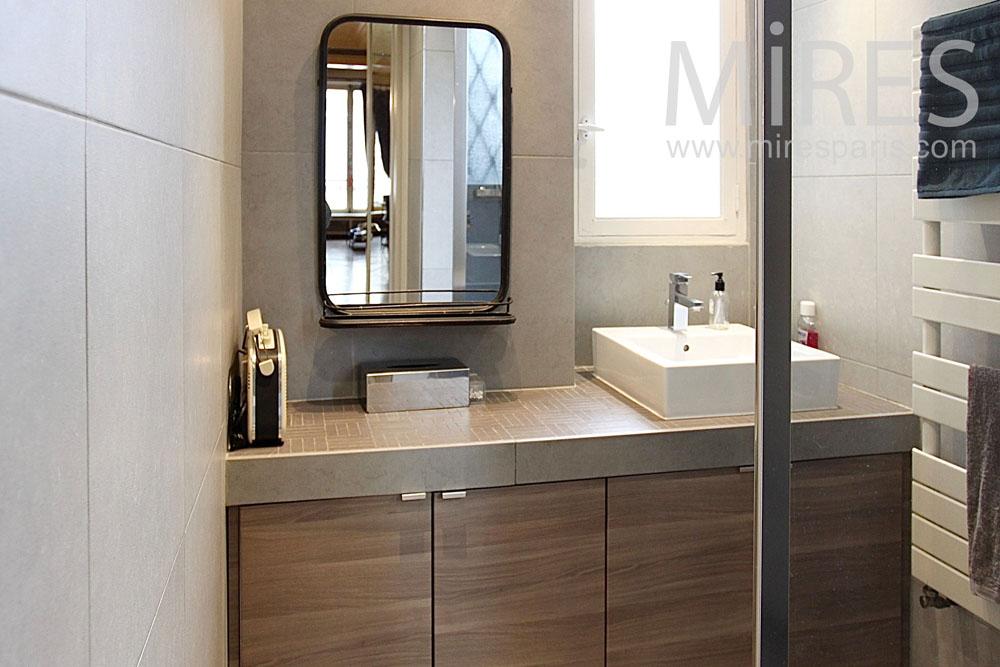 Salle de bain aux mat riaux nobles c1422 mires paris - Materiaux salle de bain ...