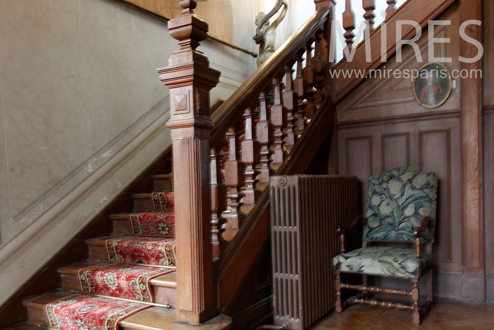 Wooden staircase. C1435