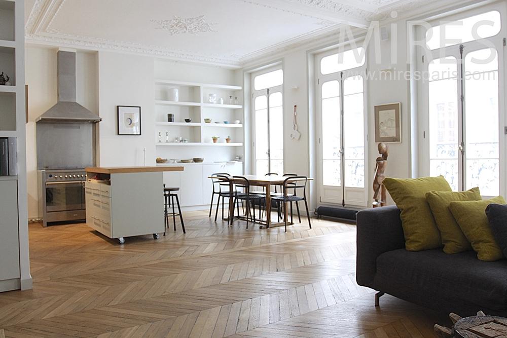 Haussmanien mires paris for Interieur appartement parisien