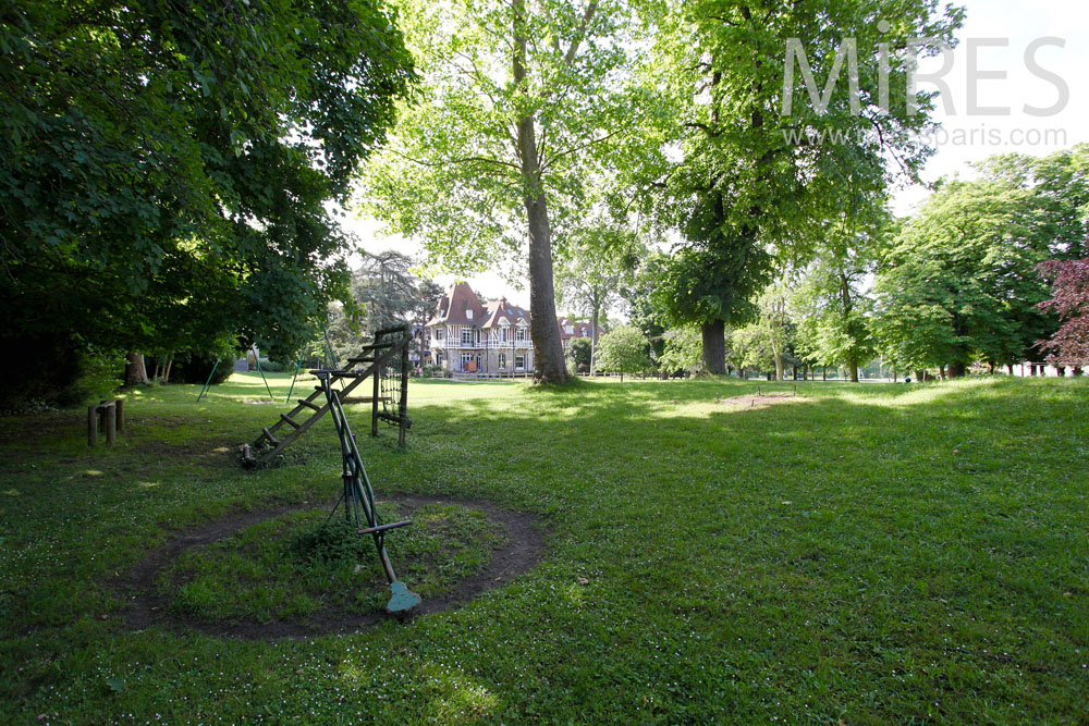 Background garden playground. C1466