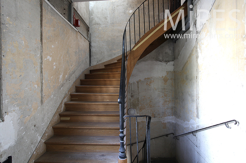 Patinated staircase. C1475