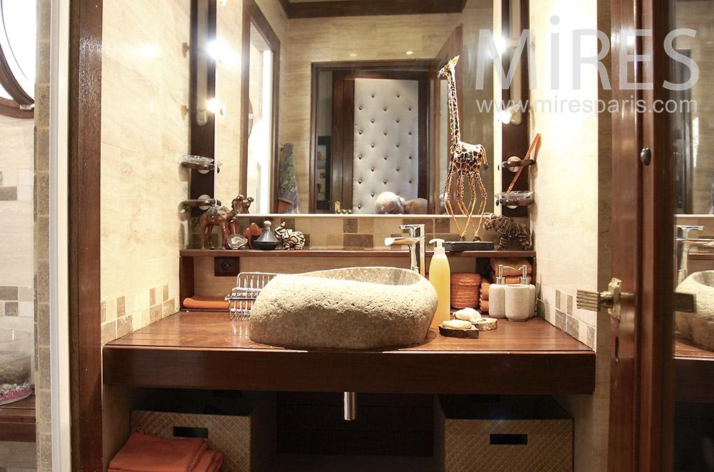 salle de bain carrelages et bois c1487 mires paris. Black Bedroom Furniture Sets. Home Design Ideas