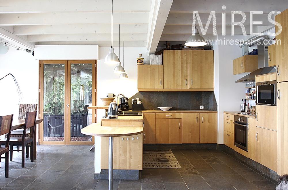 Wood kitchen. C1489