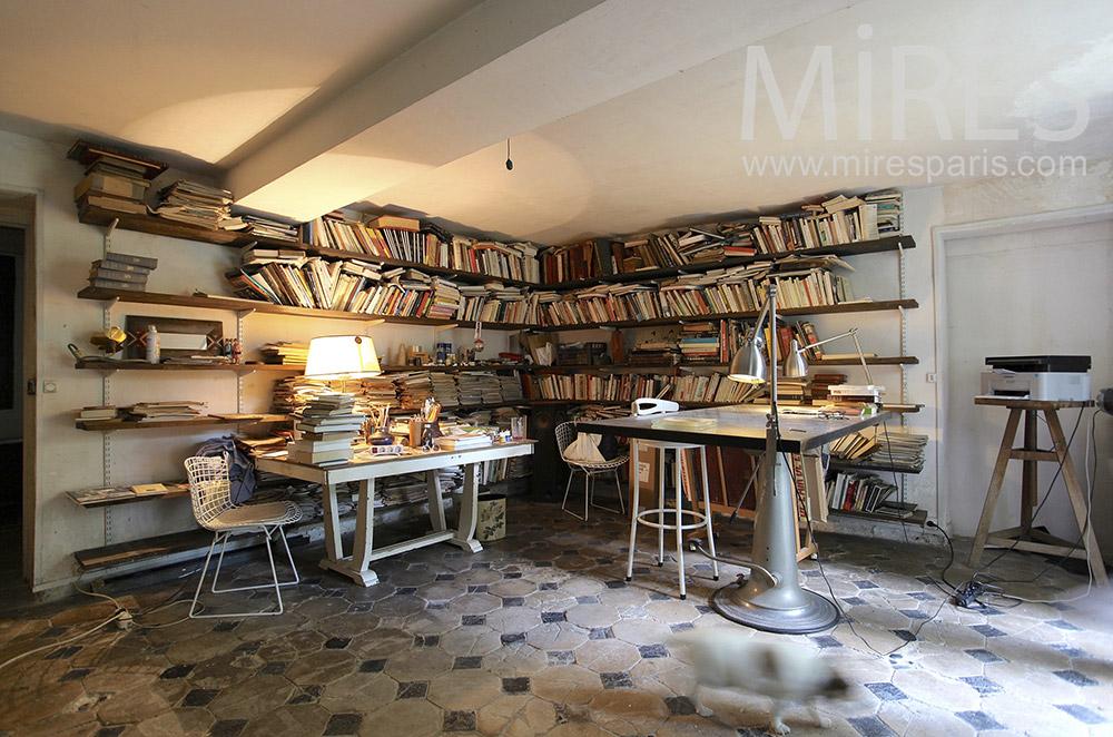 Bureau littéraire à la cave. C0028