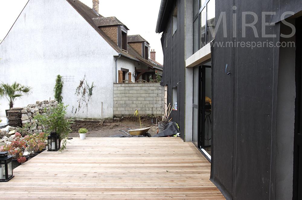 Terrasse en bois. C1497