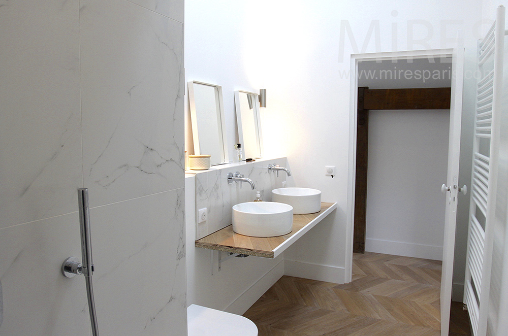 Double lavabo rond. C1497