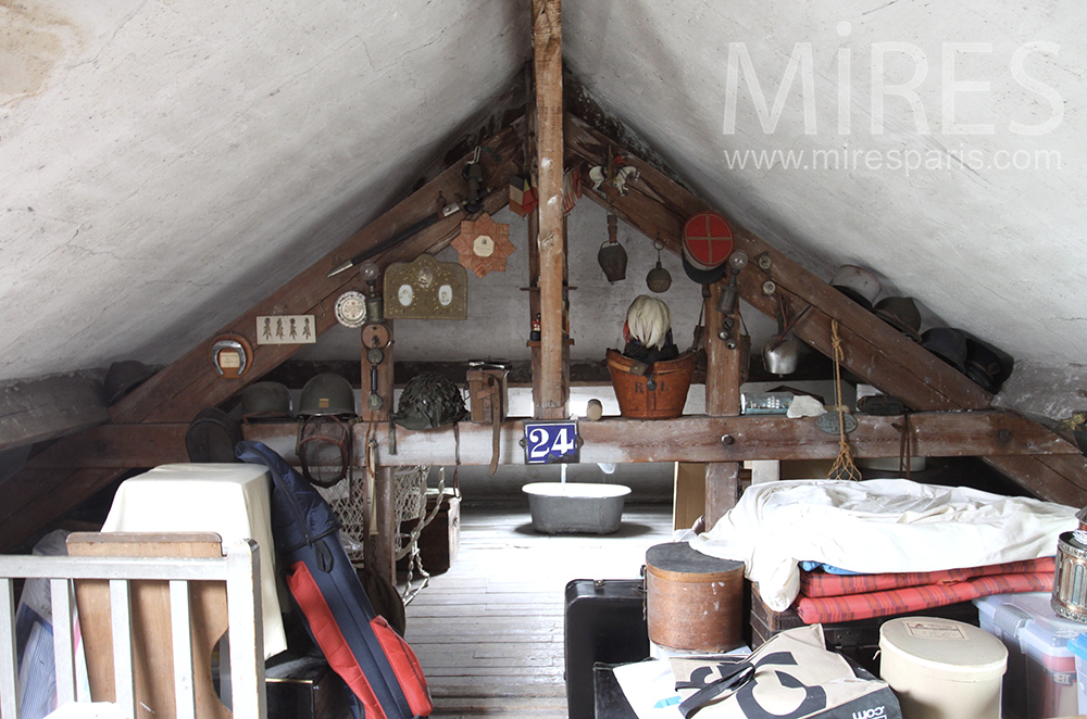 Congested attic. C1501