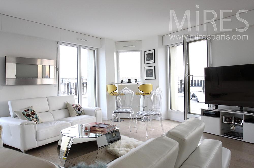 Appartement clair avec rooftop. C1515
