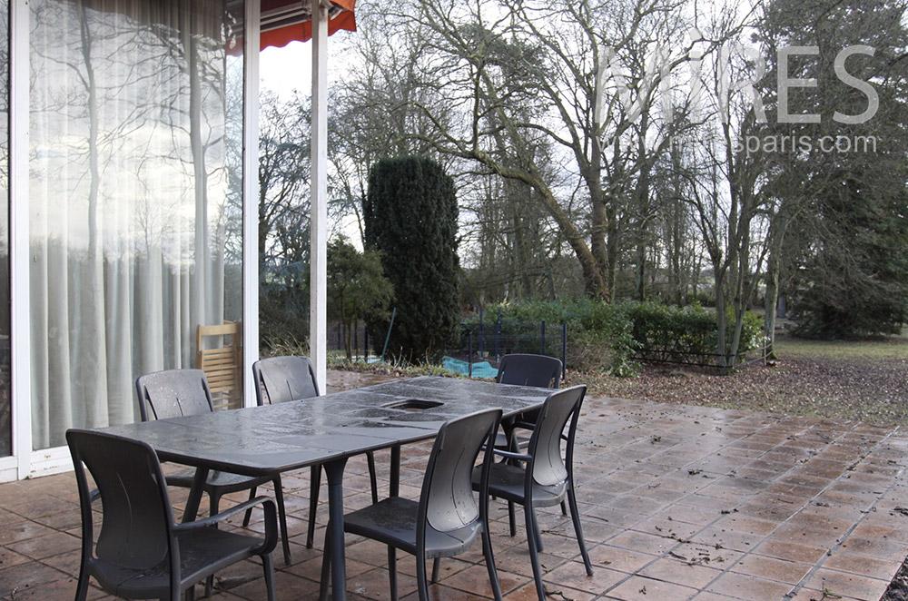 Terrasse d'automne. C1528