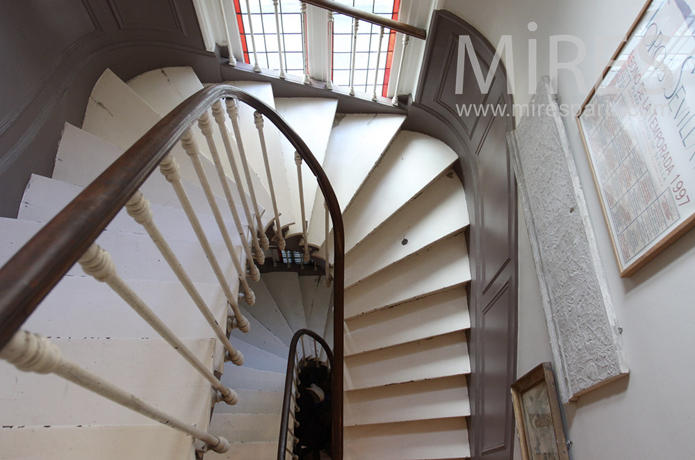Old staircase on two floors. c0145