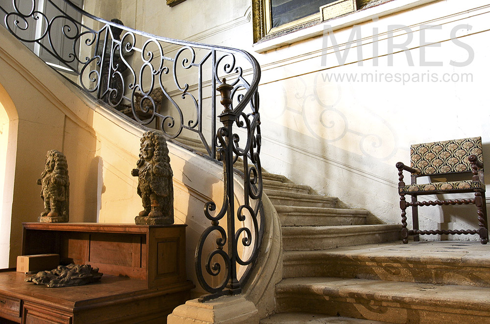Old staircase in cut stones. c1558
