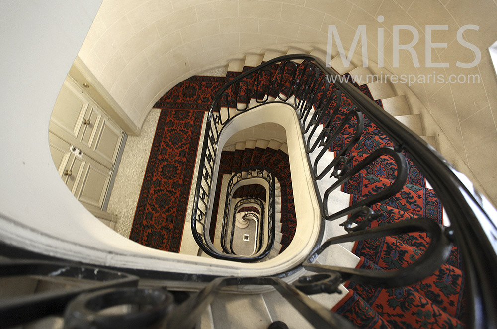 Grand staircase and red carpet. c1559