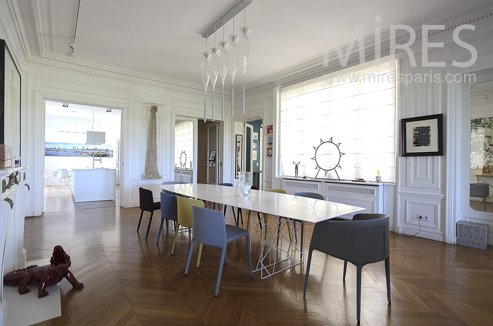 Modern dining in wide space. c1559
