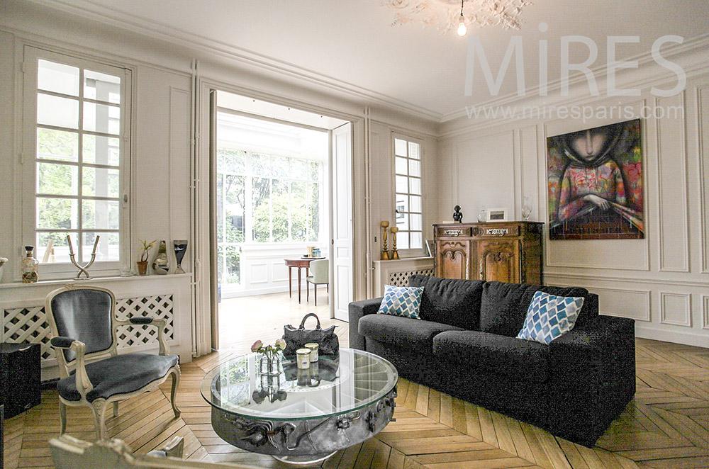 Living room overlooking veranda. C1563